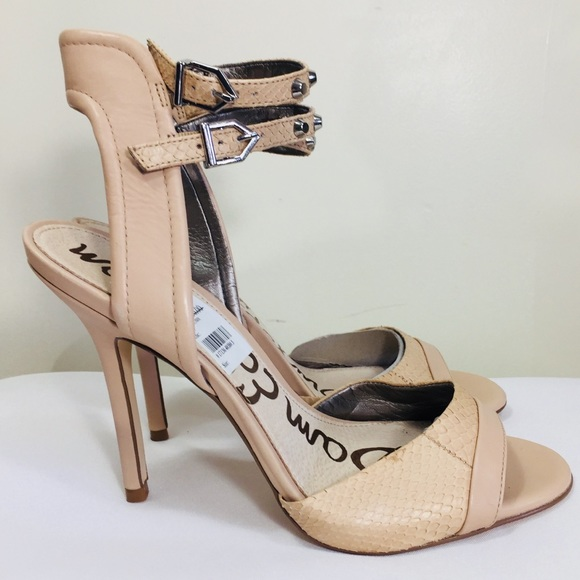 816ab4b90e94d Sam Edelman Women s Ayda Beige Leather Sandals 8.5